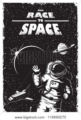 Vintage space poster