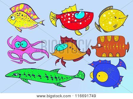 Fish illustrator Collection