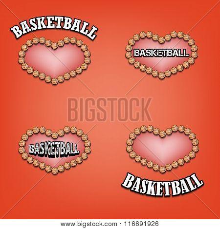Set Heart Of Basketball