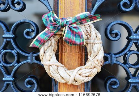 Christmas wreath on the door
