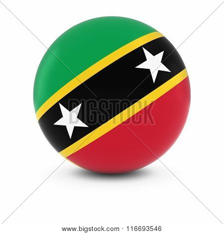 Saint Kitts And Nevis Flag Ball - Flag Of Saint Kitts And Nevis On Isolated Sphere