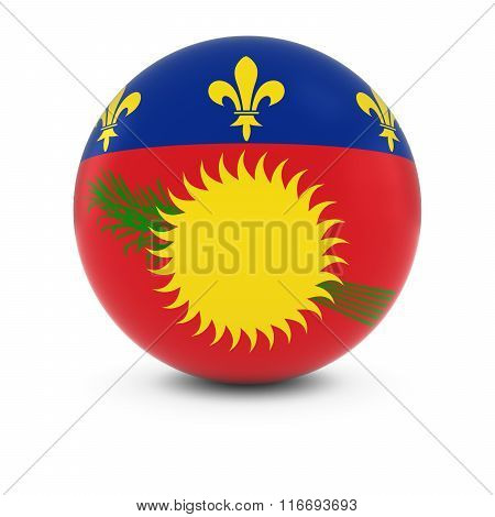 Guadeloupe Flag Ball - Flag Of Guadeloupe On Isolated Sphere