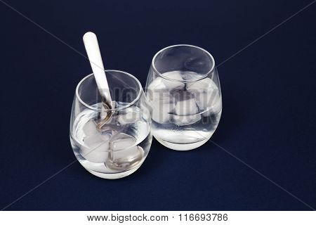 Glasses With Water And Ice