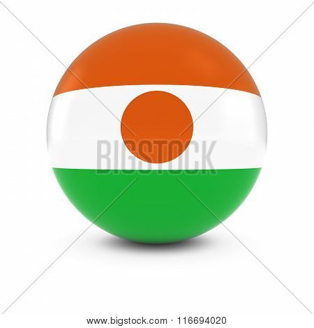 Nigerien Flag Ball - Flag Of Niger On Isolated Sphere