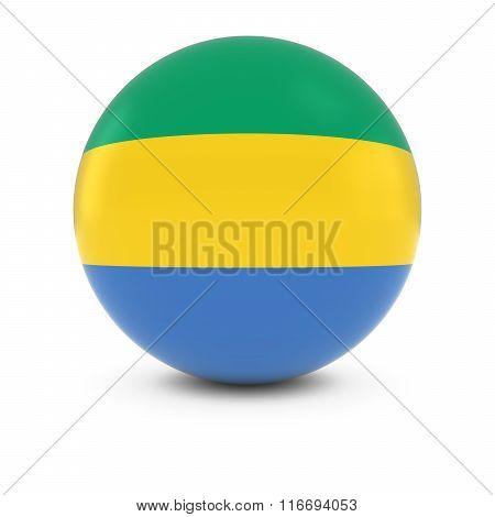 Gabonese Flag Ball - Flag Of Gabon On Isolated Sphere