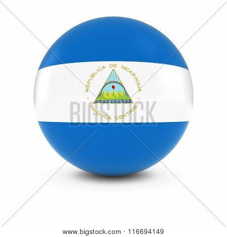 Nicaraguan Flag Ball - Flag Of Nicaragua On Isolated Sphere