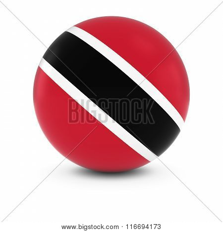 Trinidadian And Tobagonian Flag Ball - Flag Of Trinidad And Tobago On Isolated Sphere