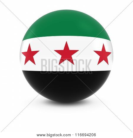 Syrian Flag Ball - Flag Of The Syrian Opposition On Isolated Sphere