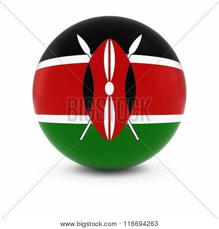Kenyan Flag Ball - Flag Of Kenya On Isolated Sphere