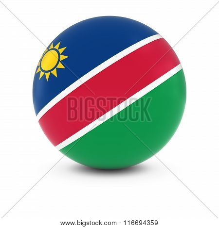 Namibian Flag Ball - Flag Of Namibia On Isolated Sphere