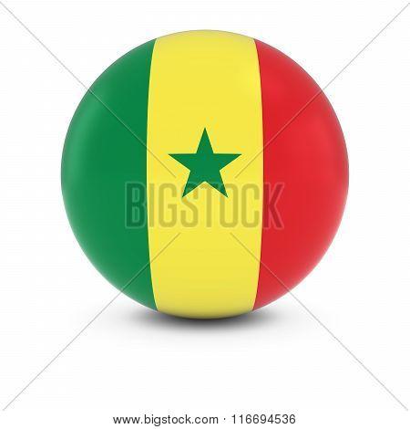 Senegalese Flag Ball - Flag Of Senegal On Isolated Sphere