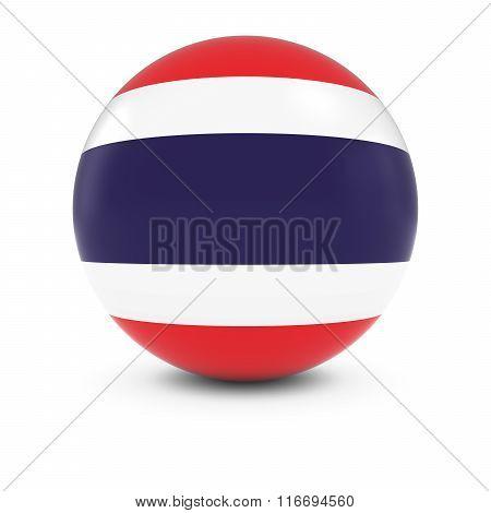 Thai Flag Ball - Flag Of Thailand On Isolated Sphere
