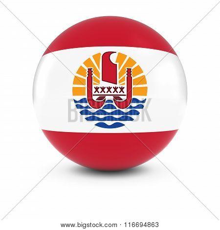 Tahitian Flag Ball - Flag Of Tahiti On Isolated Sphere