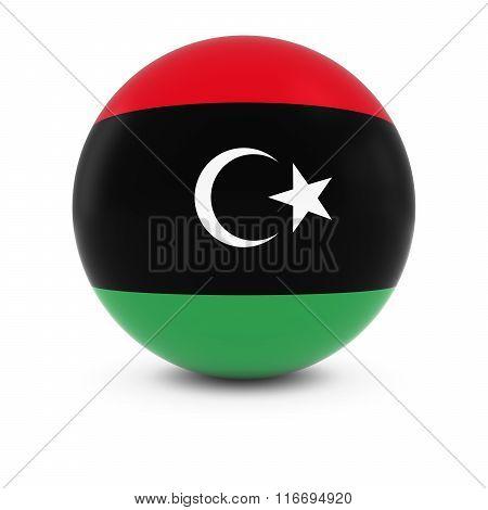 Libyan Flag Ball - Flag Of Libya On Isolated Sphere