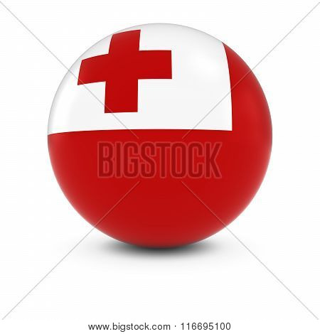 Tongan Flag Ball - Flag Of Tonga On Isolated Sphere
