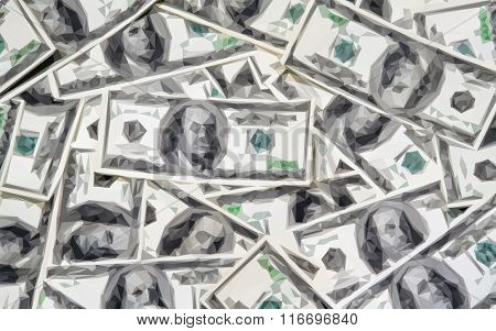 money background, triangle low poly vector