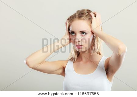 Woman Suffering From Head Pain