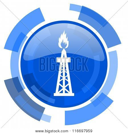 gas blue glossy circle modern web icon