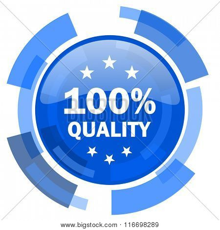 quality blue glossy circle modern web icon