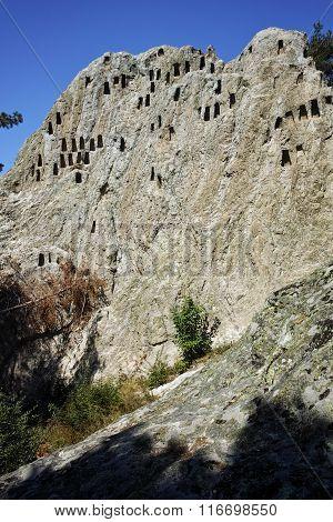 Antique Thracian Sanctuary Eagle Rocks near town of Ardino, Bulgaria
