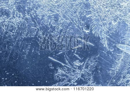 Transparent And Melting Layer Of Blue Ice