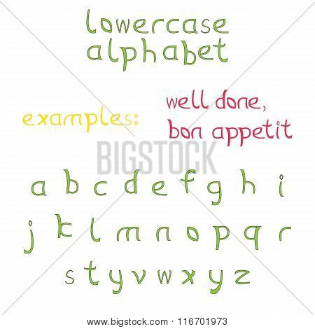 Set of letters as lowercase alphabet