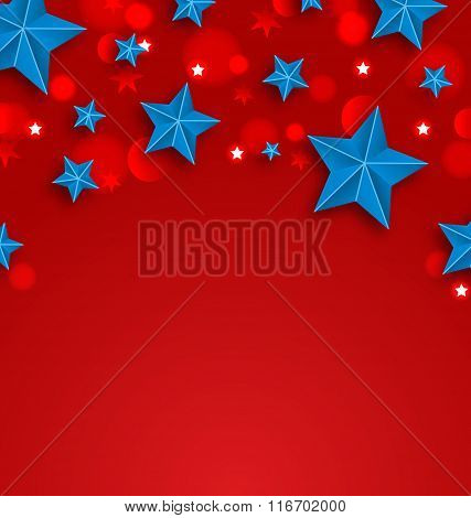 Stars Background for American Holidays, Place for Your Text