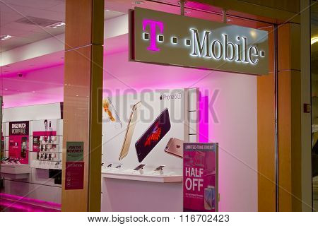 Indianapolis - Circa February 2016: T-mobile Retail Wireless Store.
