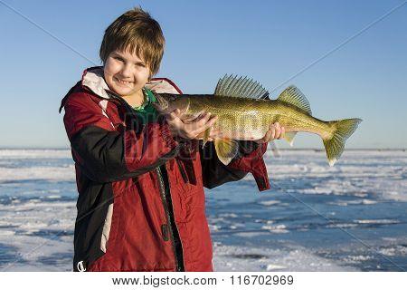 Boy with a Walleye