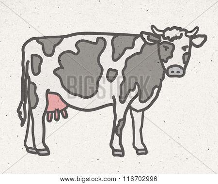 natural cow illustration
