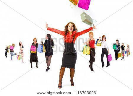 Bags Full Buying Things