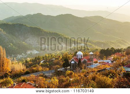 Traditional village in mountains of Cyprus