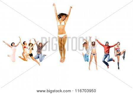 Jumping Together Isolated