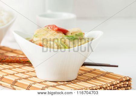 Green Curry Chicken Closeup