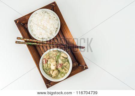 Green Curry Chicken Overhead