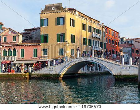 Croze Bridge On Rio Dei Tolentini In Venice