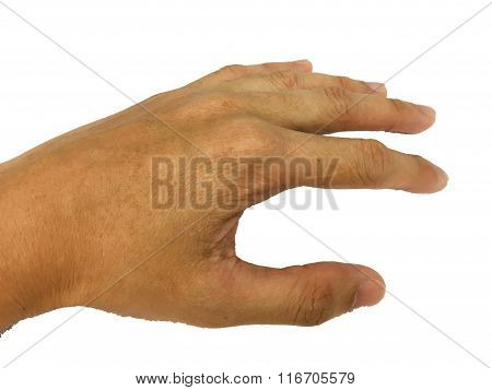 Hand and palm