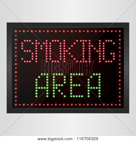 Smoking Area Notice LED digital Sign