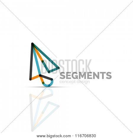 Arrow icon vector logo. Company branding element