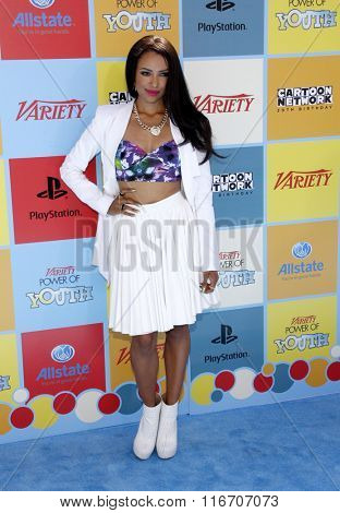 Kat Graham at the Variety's Power Of Youth held at the Paramount Studios in Hollywood, USA on September 15, 2012.