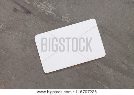 Name Card On Grey Background