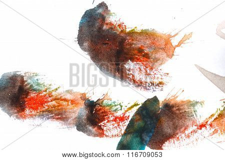 Watercolor Paint Abstract. Multicolored.