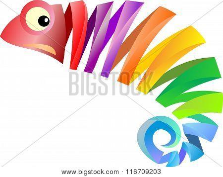 stock logo color of chameleon