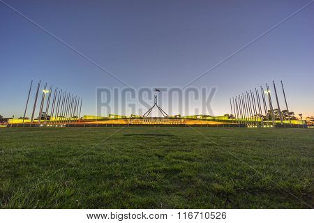 Parliament House Australia During Sunset