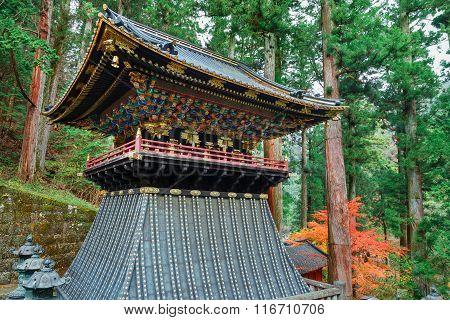 Belfry (Shoro) at Taiyuinbyo - the Mausoleum of Shogun Tokugawa Iemitsu in Nikko, Japan