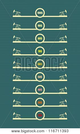 Oil Derrick Icons And Abstract Price List