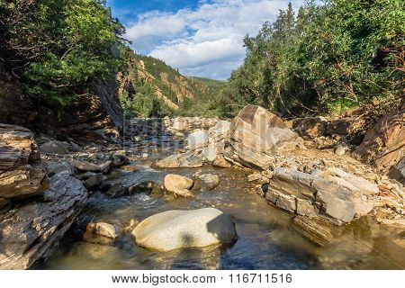 Canyon In The Alaska Range
