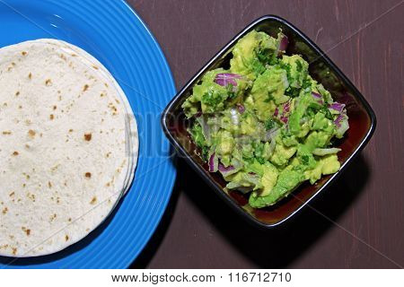 Guacamole and Tortilla