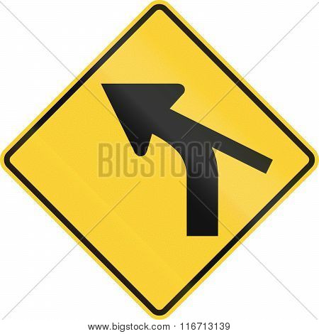 United States Mutcd Warning Road Sign - Intersection In Curve