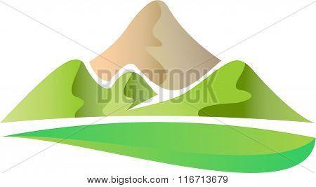 stock logo green hill